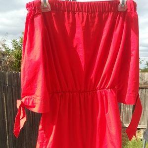 Off shoulder h&m red dress 4